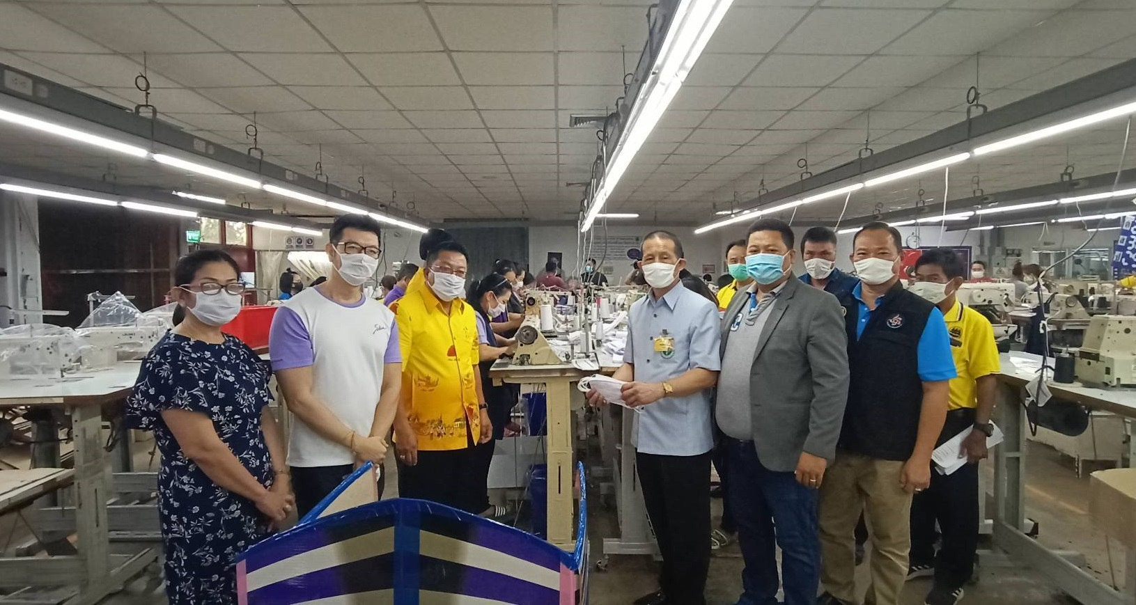ซาบีน่า โรงงานยโสธร เปิดไลน์ผลิตหน้ากากผ้าเพื่อมอบให้กับประชาชน ป้องกันโควิด-19